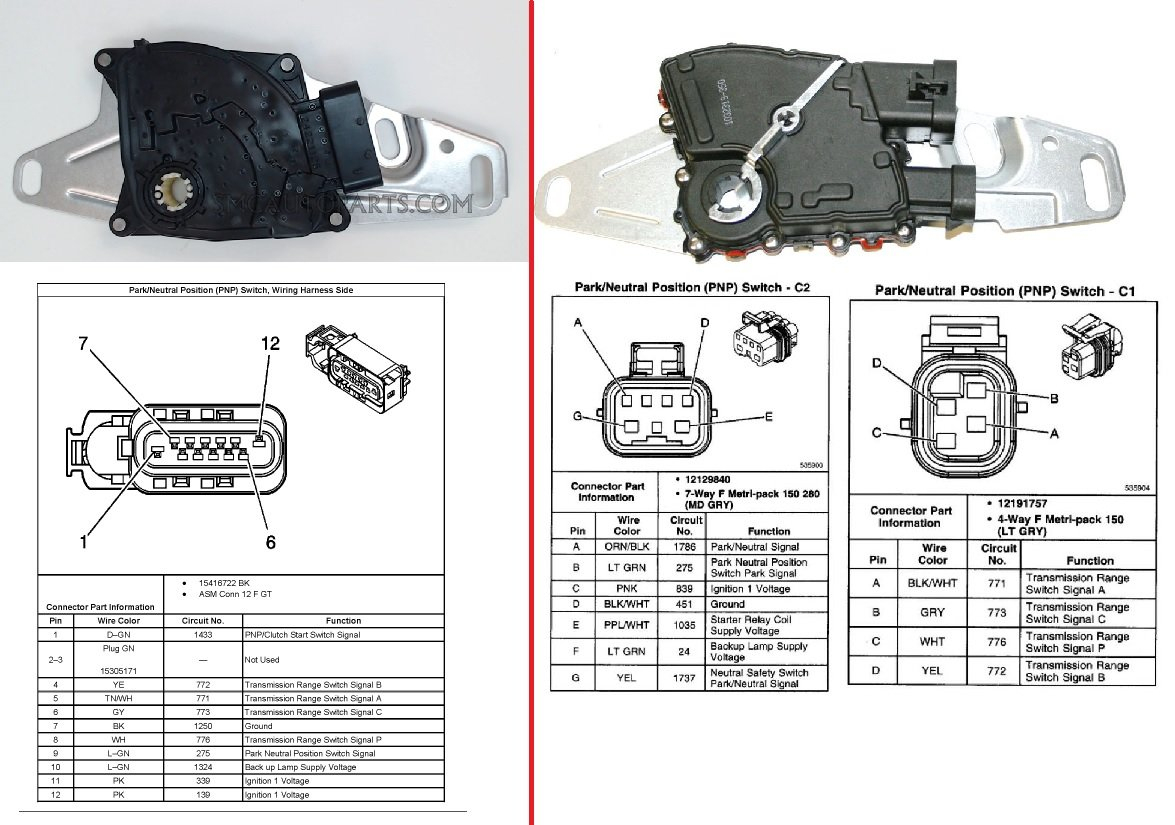 4L60E Park / Neutral Switch Types. Compatible? - Ls1Tech - Camaro - 4L60E Neutral Safety Switch Wiring Diagram