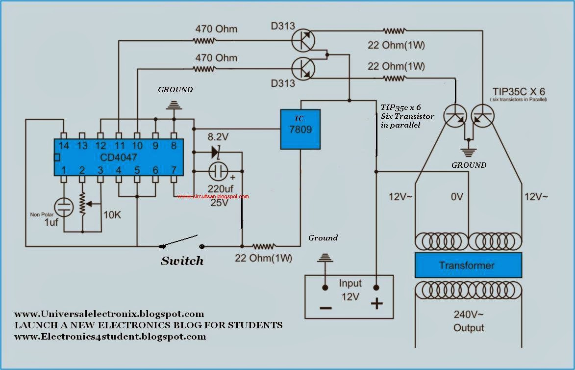 500 W Inverter Circuit Diagram | Wiring Library - Power Inverter Wiring Diagram