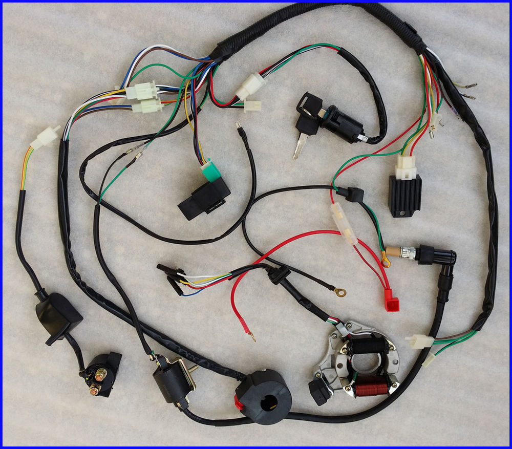 50Cc 70Cc 90Cc 110Cc Wire Harness Wiring Cdi Electric Atv Quad - Chinese Atv Wiring Diagram 50Cc