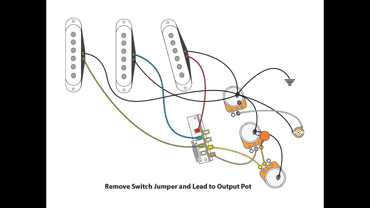 50's Or Vintage Style Wiring For A Stratocaster - Youtube - Stratocaster Wiring Diagram