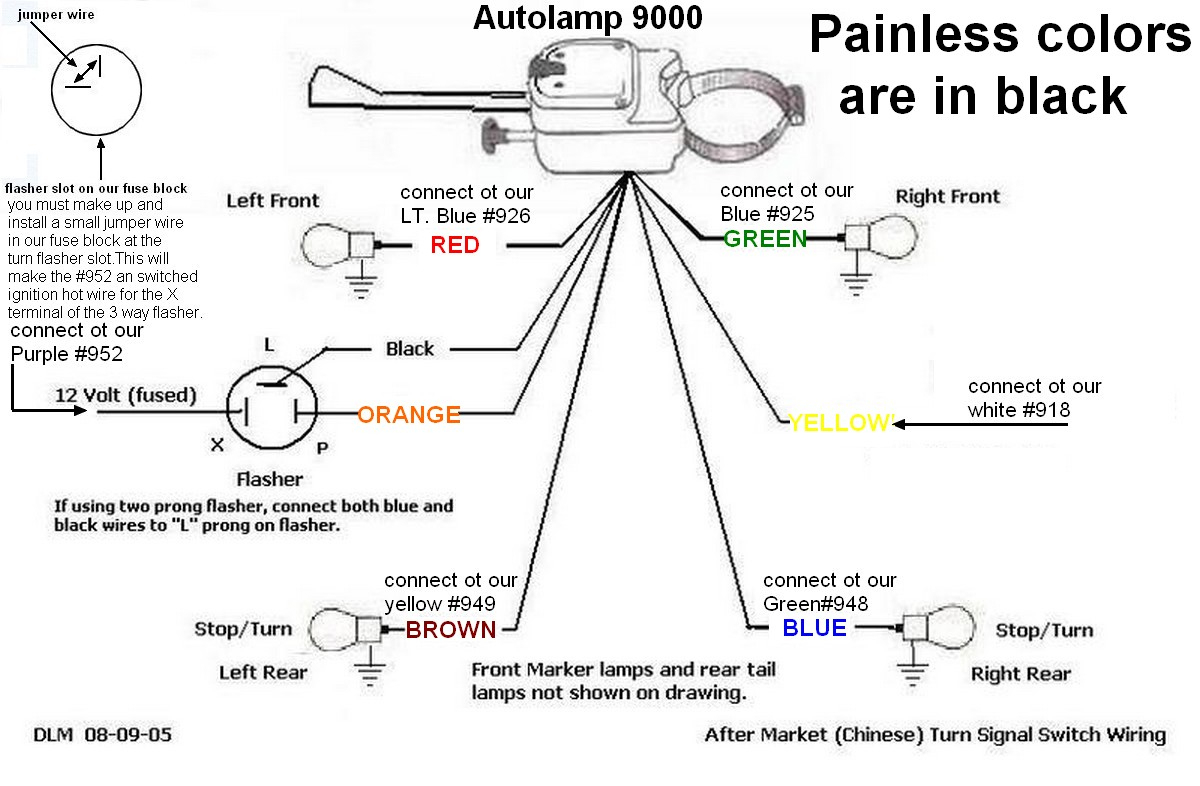 550 Flasher Wiring Diagram - Trusted Wiring Diagram Online - Universal Turn Signal Wiring Diagram