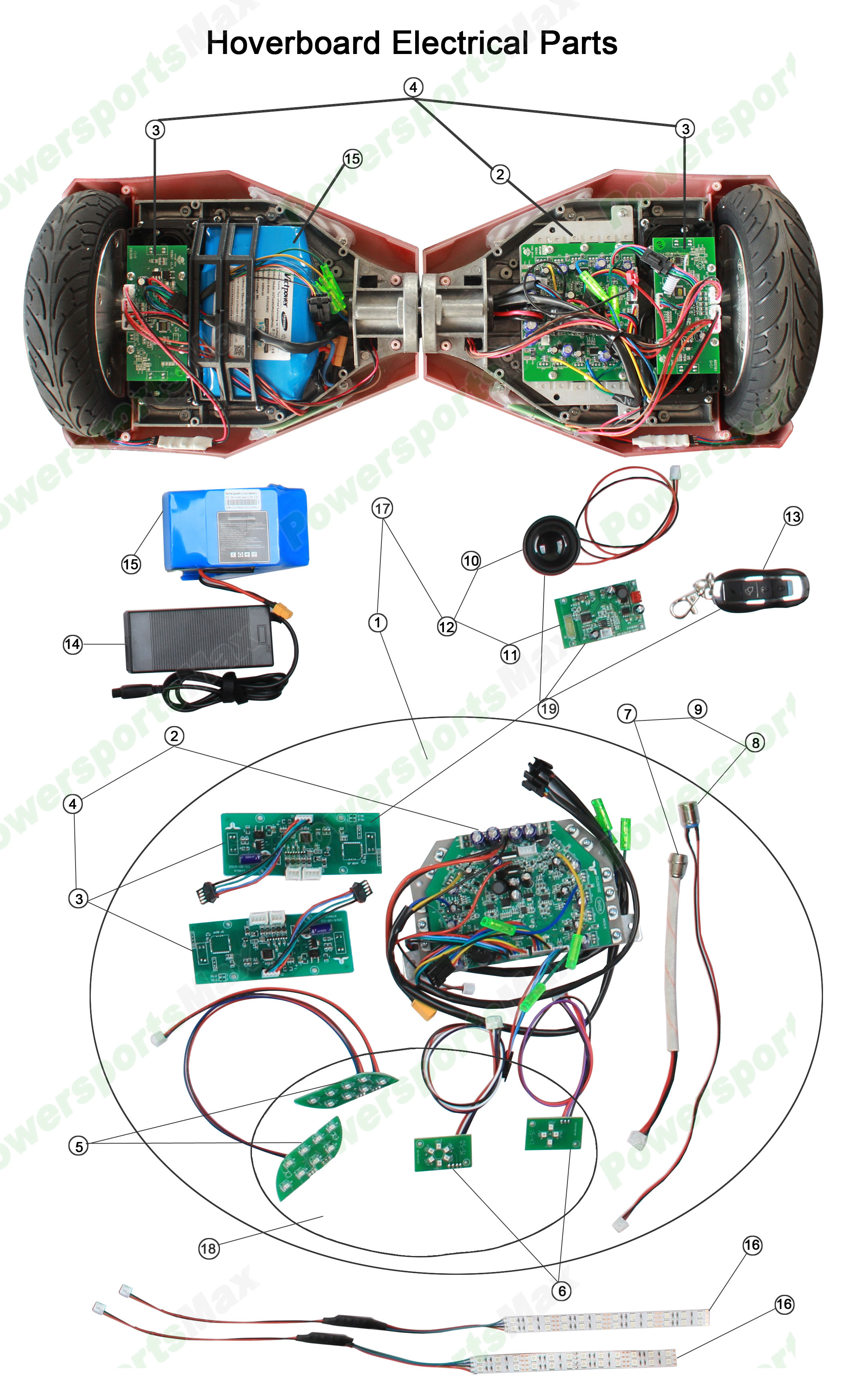 6.5'' Hoverboard Electric Hoverboard Parts - Hoverboard Wiring Diagram