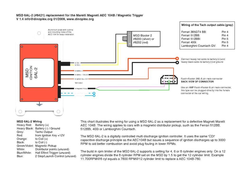 6421 Msd 6al 2 Wiring Diagram