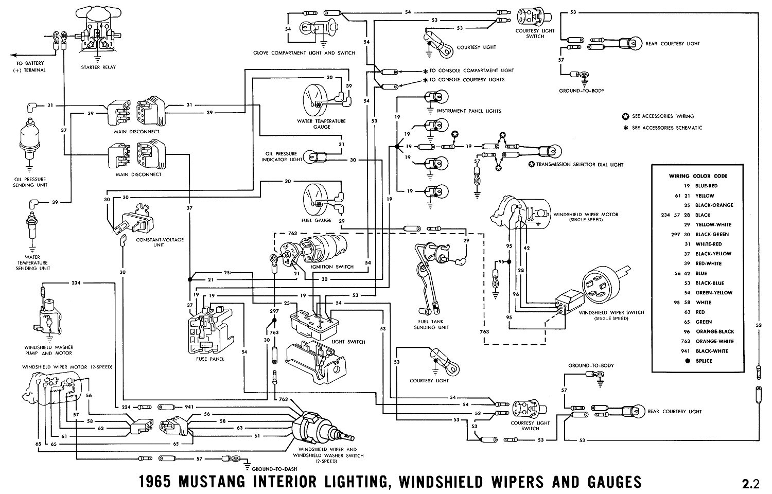 66 Mustang Wiring Color Code - Wiring Diagram Name - 66 Mustang Wiring Diagram