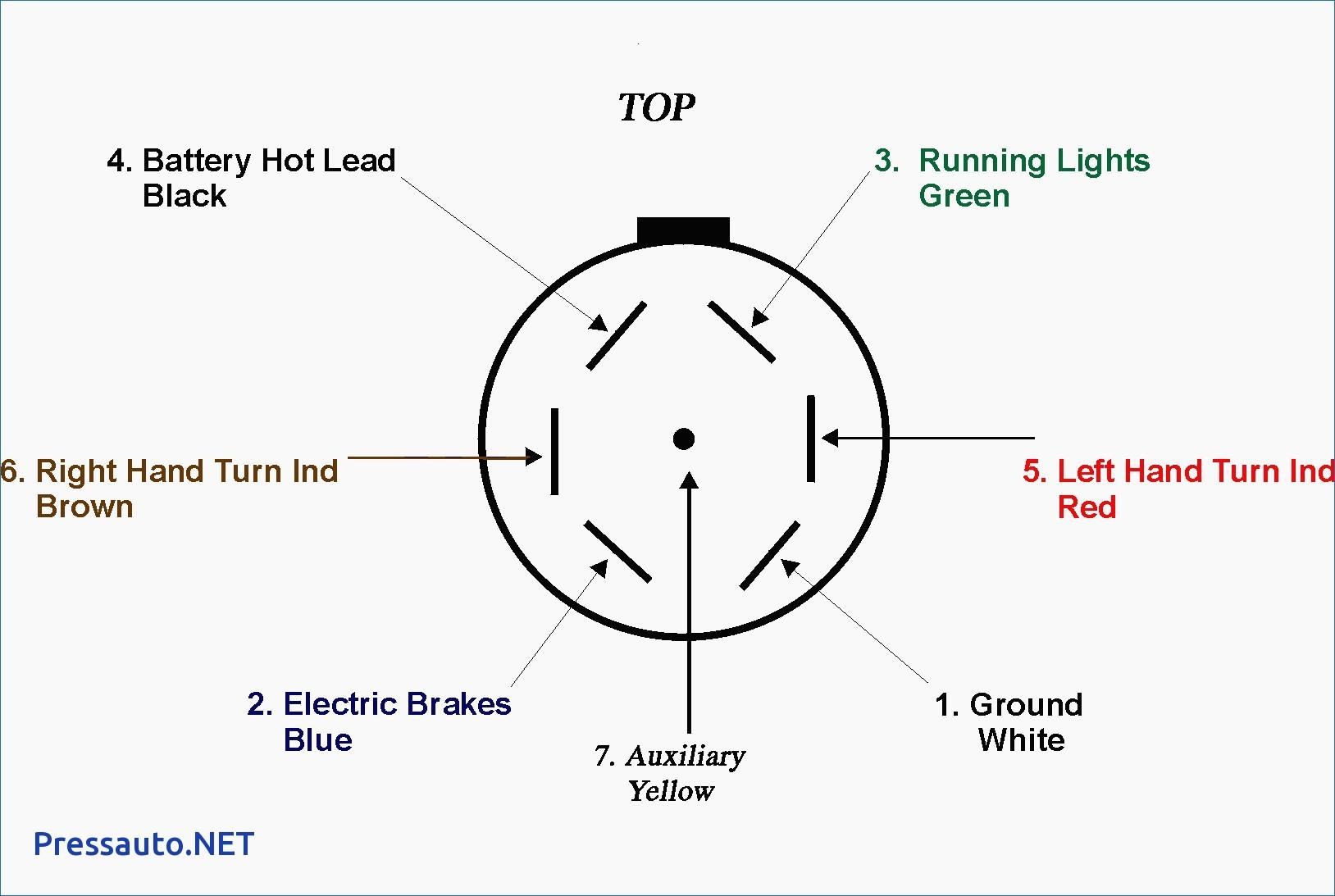 7 Blade Trailer Wiring Diagram - Wiring Diagram Blog - Trailer Connector Wiring Diagram