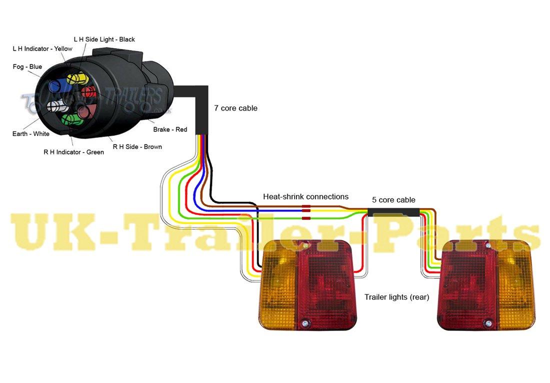 7 Pin 'n' Type Trailer Plug Wiring Diagram | Uk-Trailer-Parts - 7 Way Trailer Plug Wiring Diagram