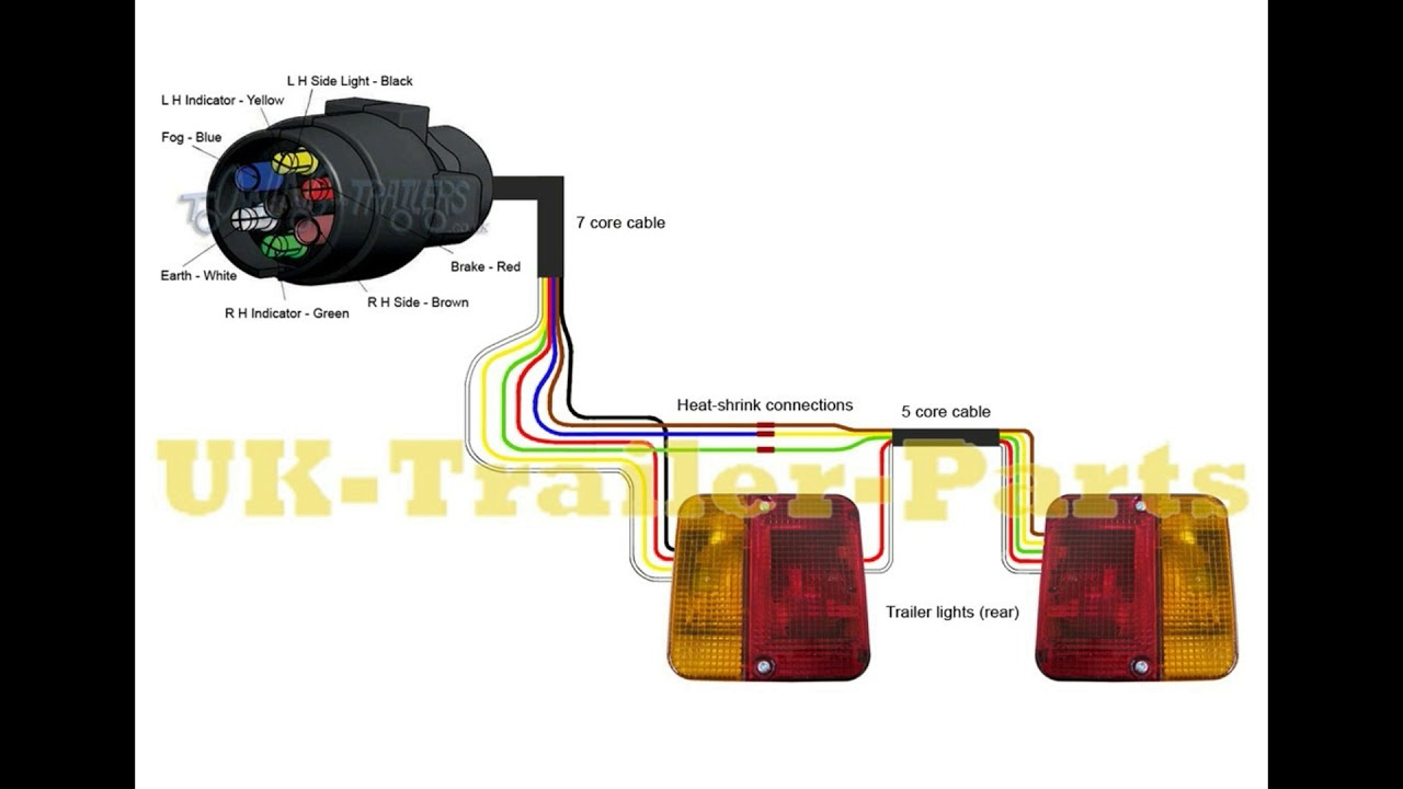 7 Pin 'n' Type Trailer Plug Wiring Diagram - Youtube - Trailer Light Wiring Diagram 7 Way