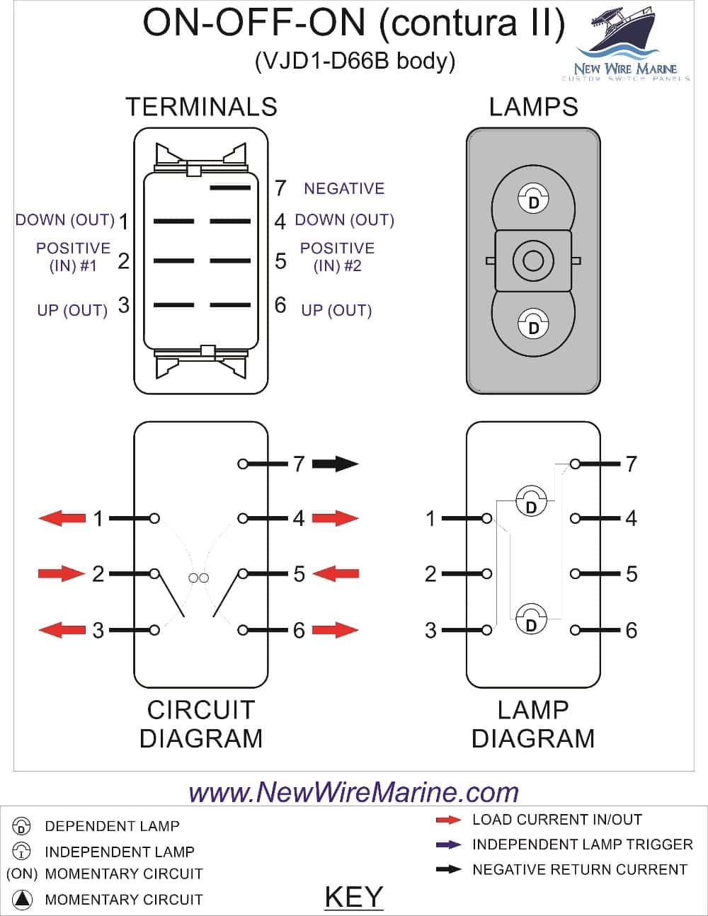 7 Pin Rocker Switch Wiring Diagram | Wiring Diagram - 7 Pin Rocker Switch Wiring Diagram