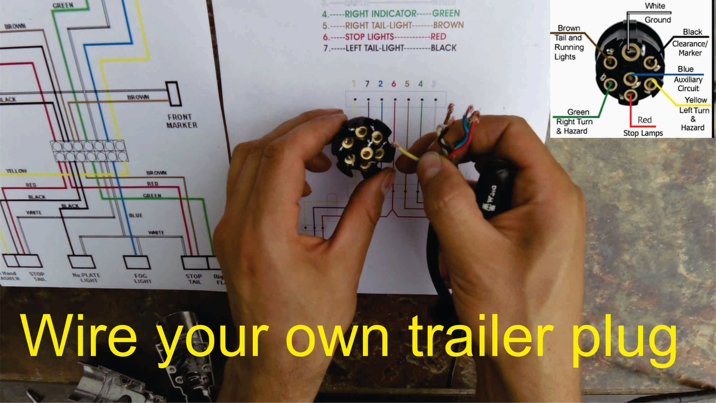 7 Pin To 4 Pin Wiring Diagram | Manual E-Books - 4 Pin To 7 Pin Trailer Adapter Wiring Diagram