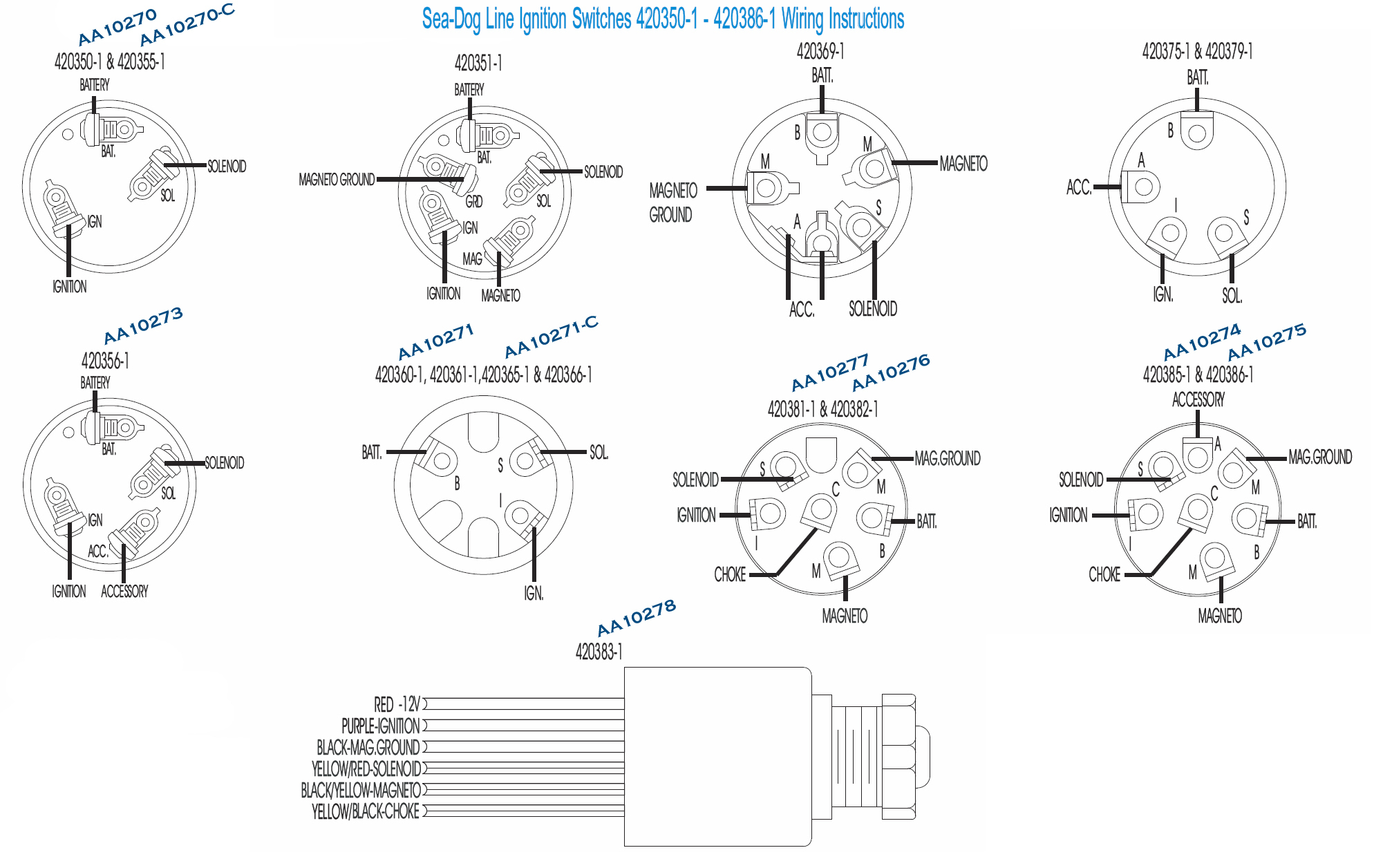 7 Pole Ignition Switch Wiring - Free Wiring Diagram For You • - 7 Terminal Ignition Switch Wiring Diagram