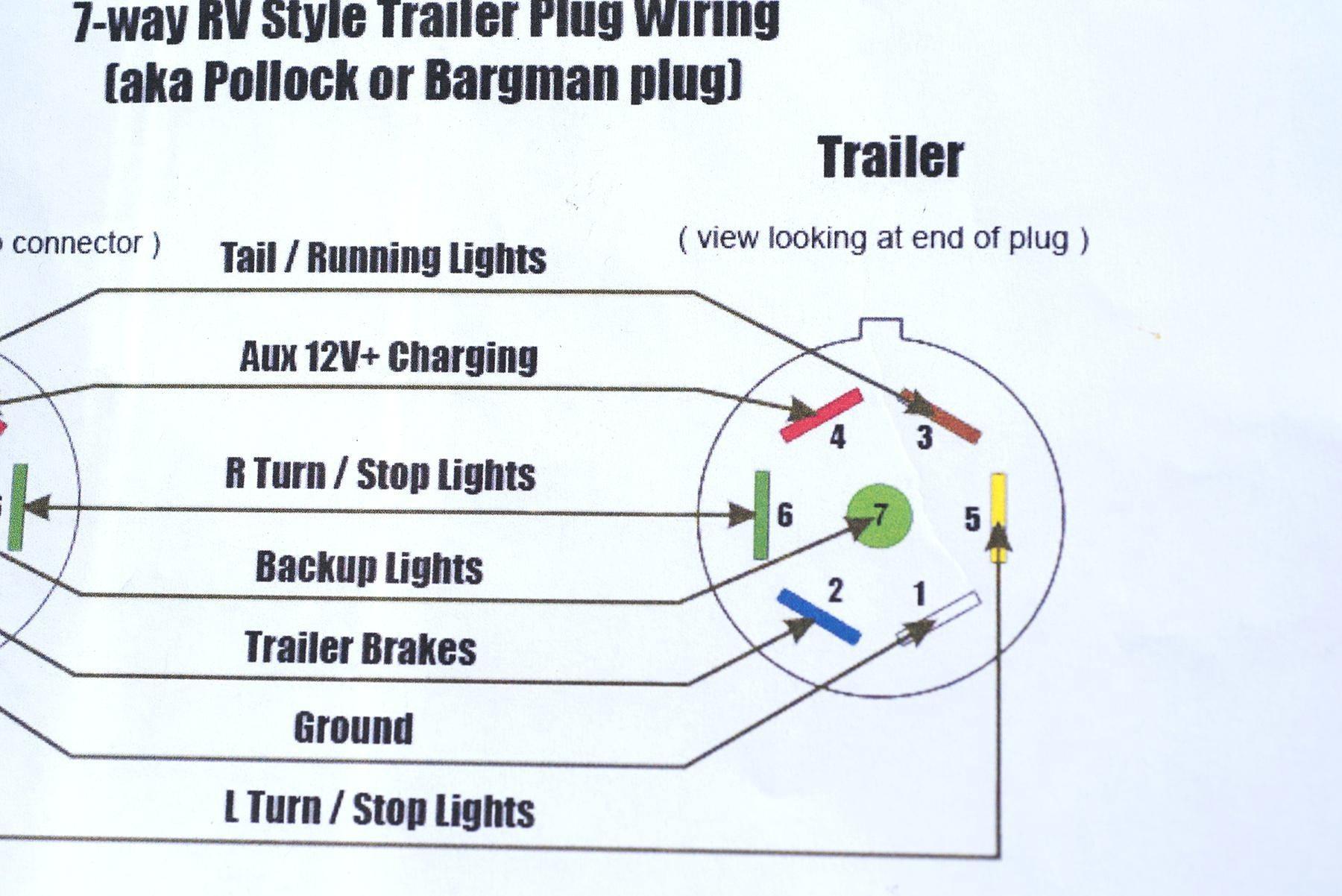 7 Way Flat Wiring Diagram - Wiring Block Diagram - 4 Pin Trailer Connector Wiring Diagram