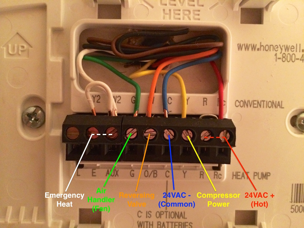 7 Wire Thermostat Diagram | Wiring Diagram - 4 Wire Thermostat Wiring Diagram