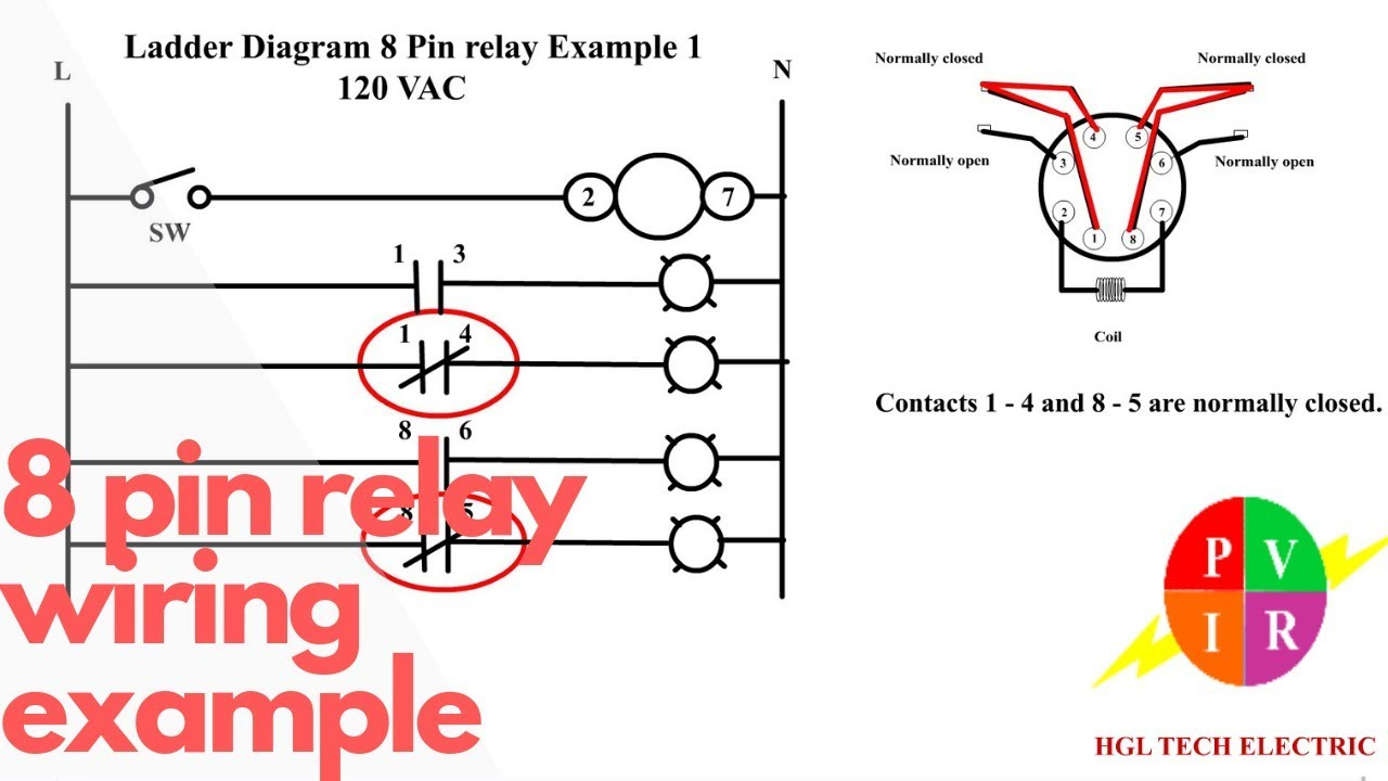 8 Pin Relay Wiring. Relay Connection. 8 Pin Relay Connection - 8 Pin Relay Wiring Diagram