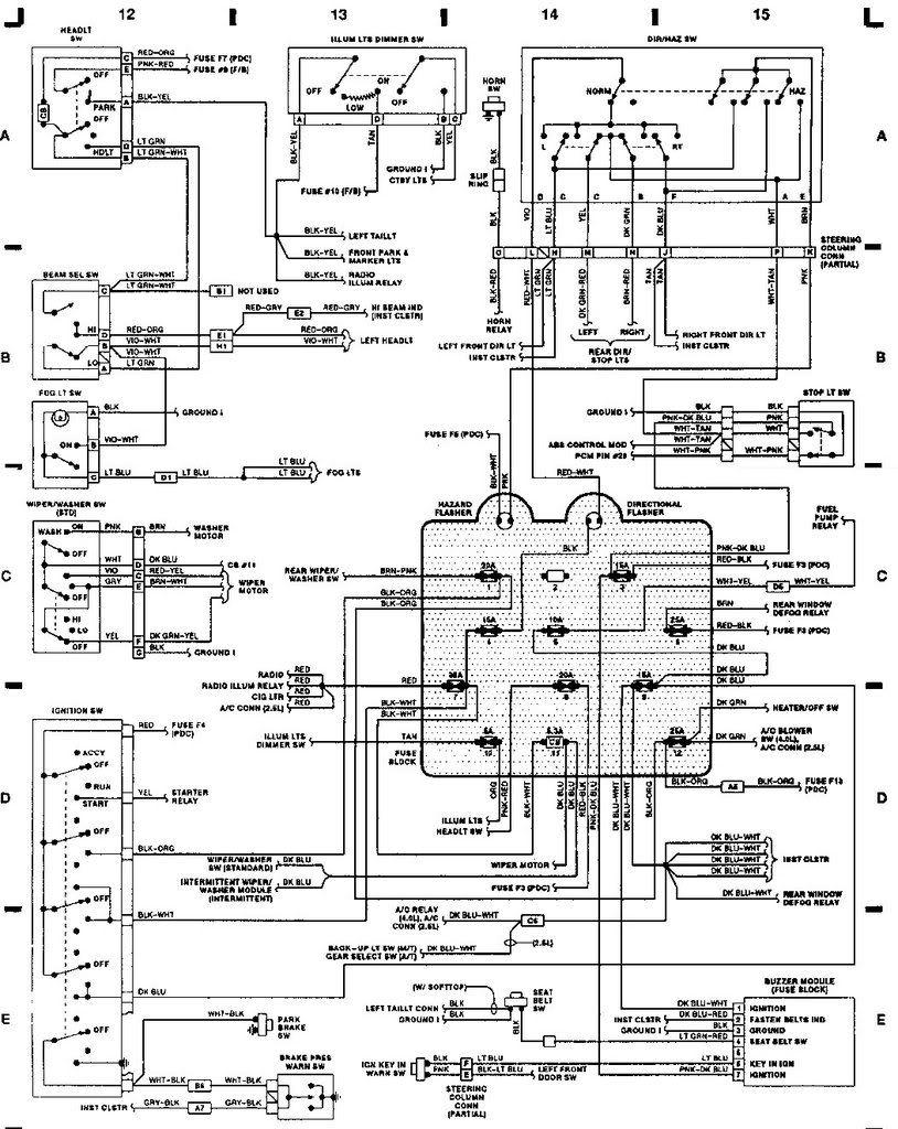89 Jeep Yj Wiring Diagram | Yj Wiring Help | Jeep Yj | Jeep, Jeep - Jeep Wrangler Wiring Diagram