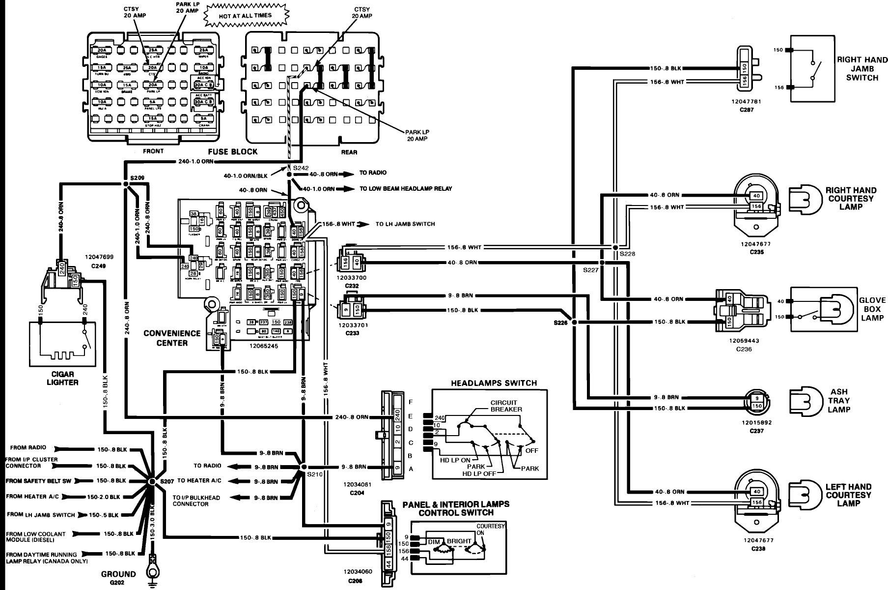 91 Chevy Truck Tail Light Wiring Diagram | Manual E-Books - Tail Light Wiring Diagram Chevy