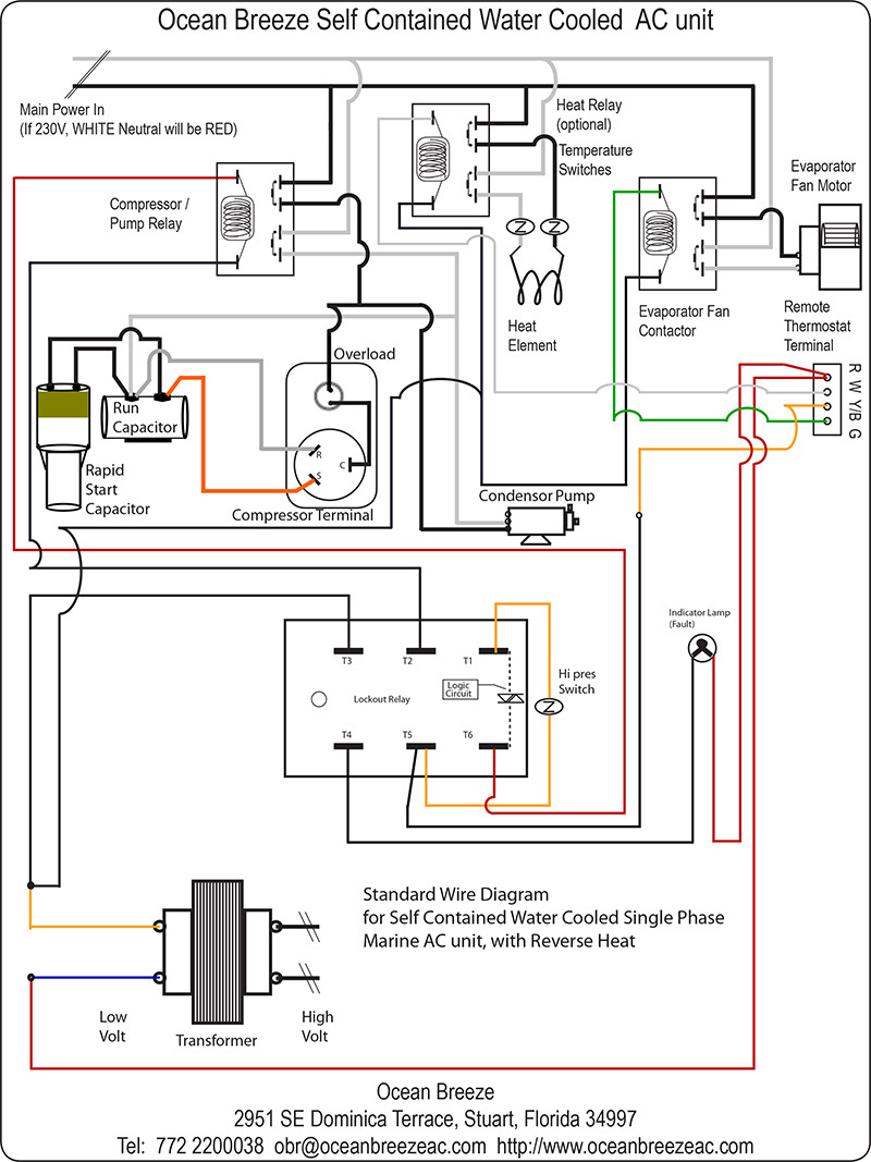 A C Wire Diagram | Wiring Diagram - Air Handler Wiring Diagram