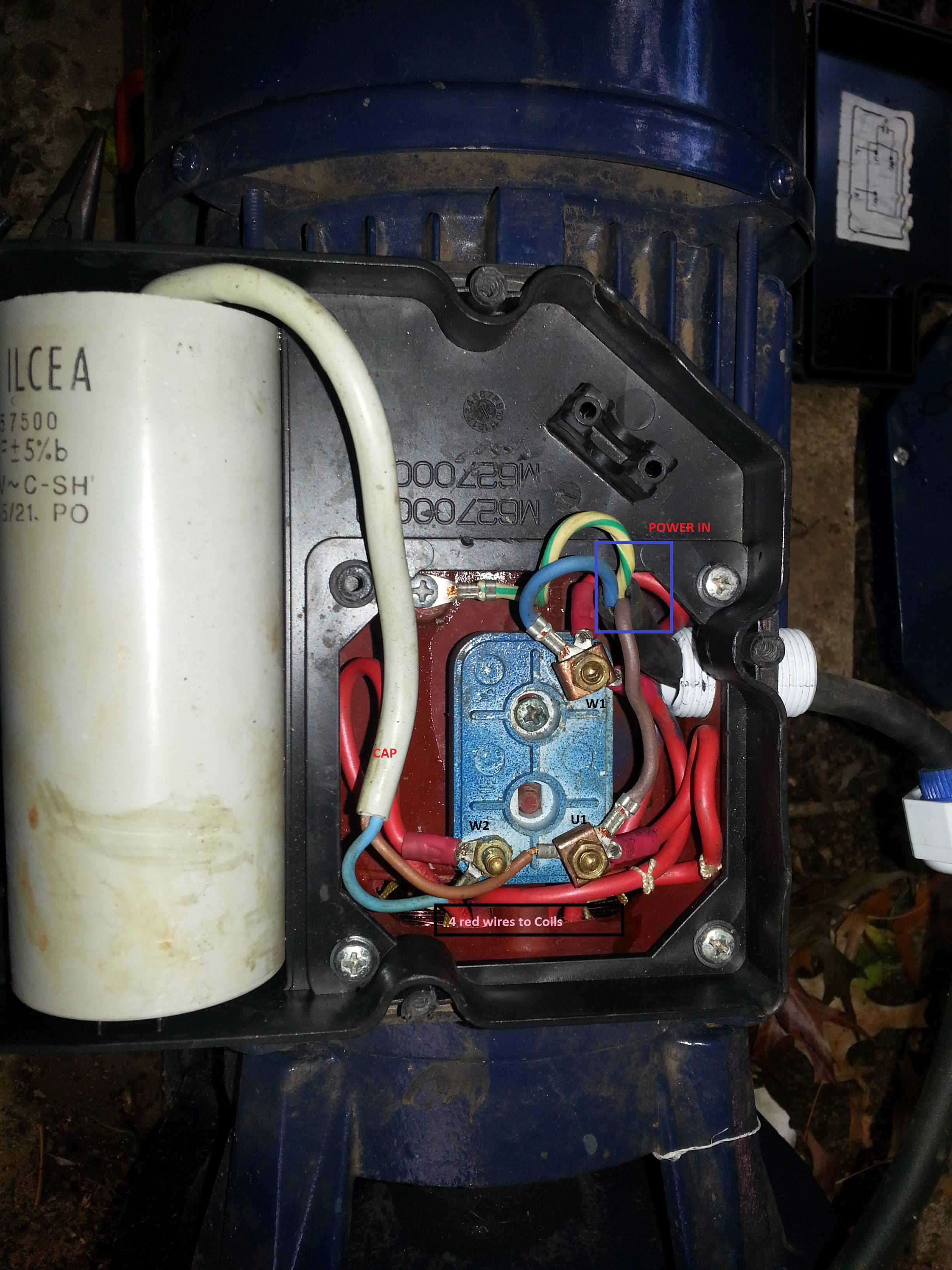 Ac - Correct Wiring Of 1 Phase 220V Electrical Motor - Electrical - Single Phase Motor Wiring Diagram