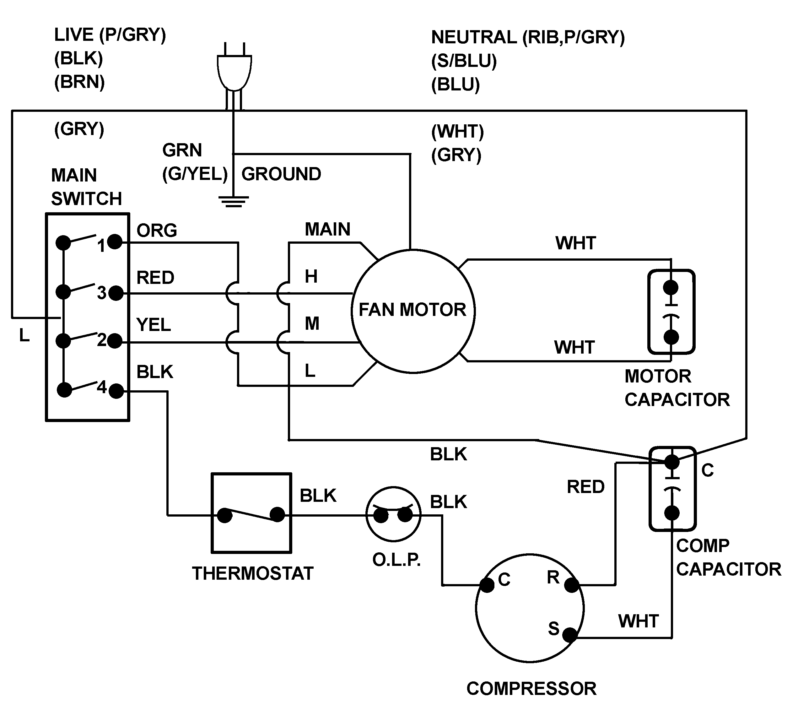 Ac Hvac Wiring | Wiring Diagram - Central Air Conditioner Wiring Diagram