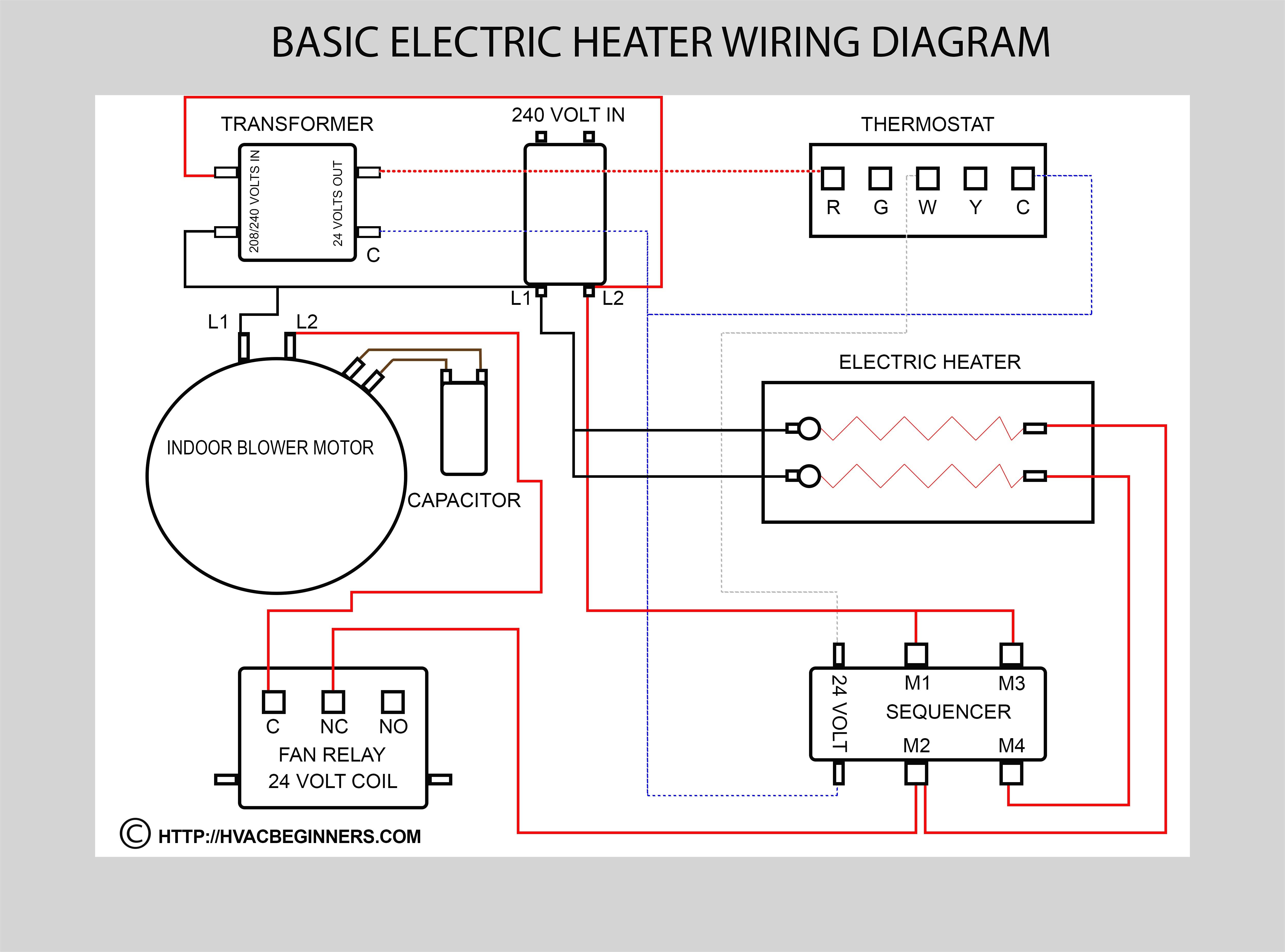 Ac Wire Diagram | Wiring Diagram - Electric Heater Wiring Diagram