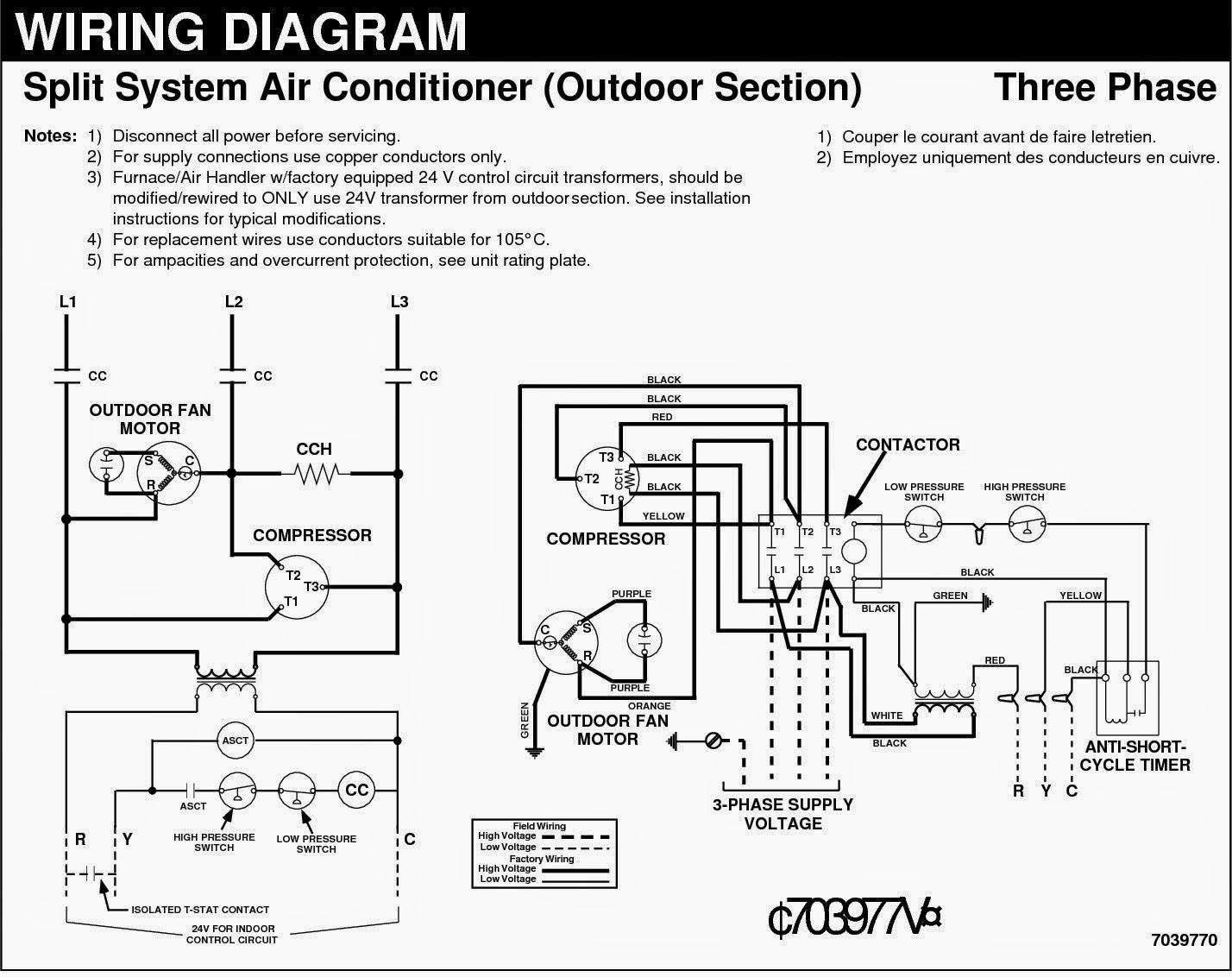 Ac Wiring Schematic - Wiring Diagram Online - Central Ac Wiring Diagram