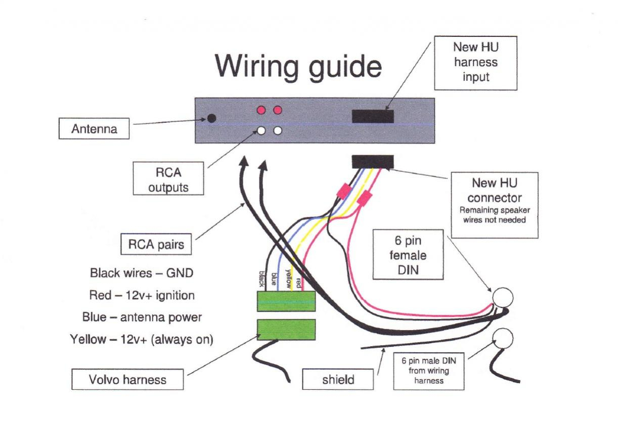 Aftermarket Radio To Factory Amp Wiring Help - Volvo Forums - Volvo - Stereo Headphone Jack Wiring Diagram