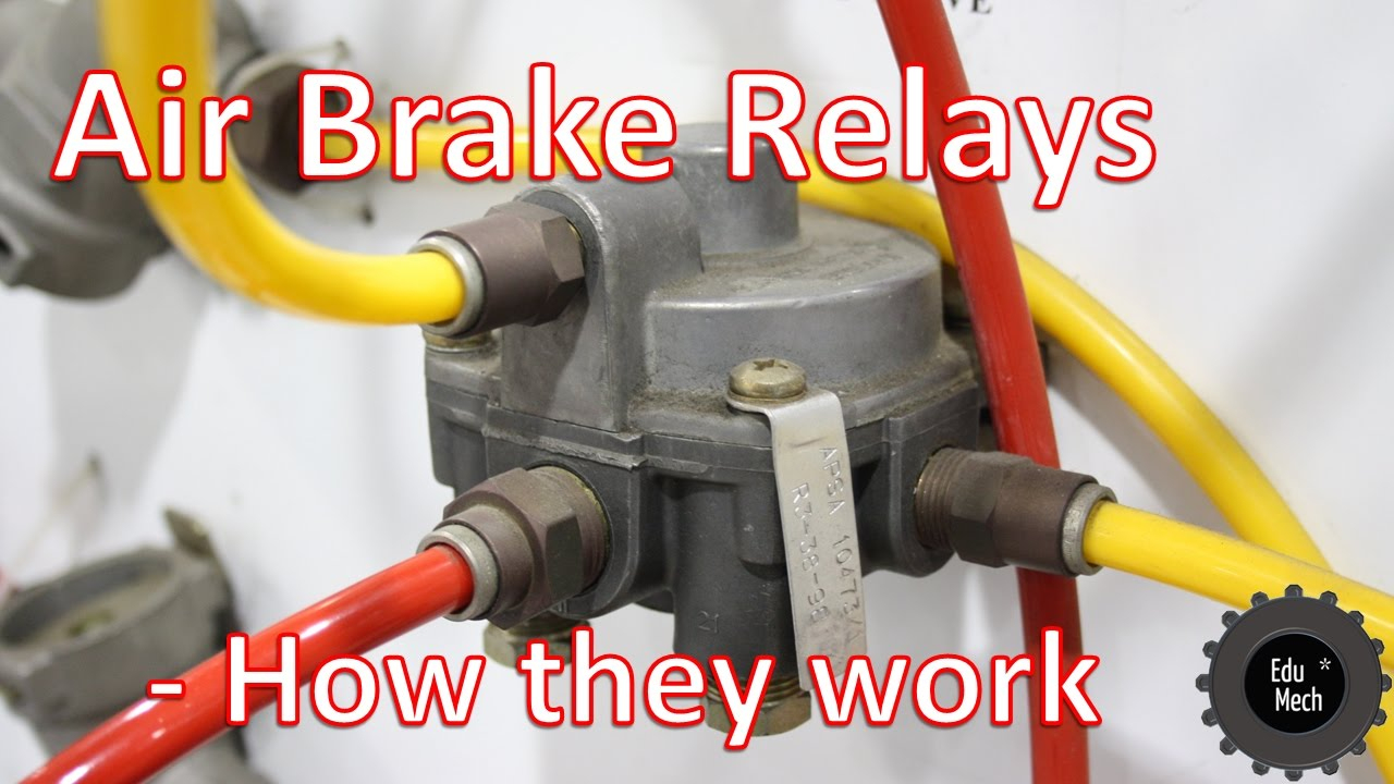 Air Brake Relay - How It Works. Air Braking Systems And Commercial - Kenworth W900 Wiring Diagram