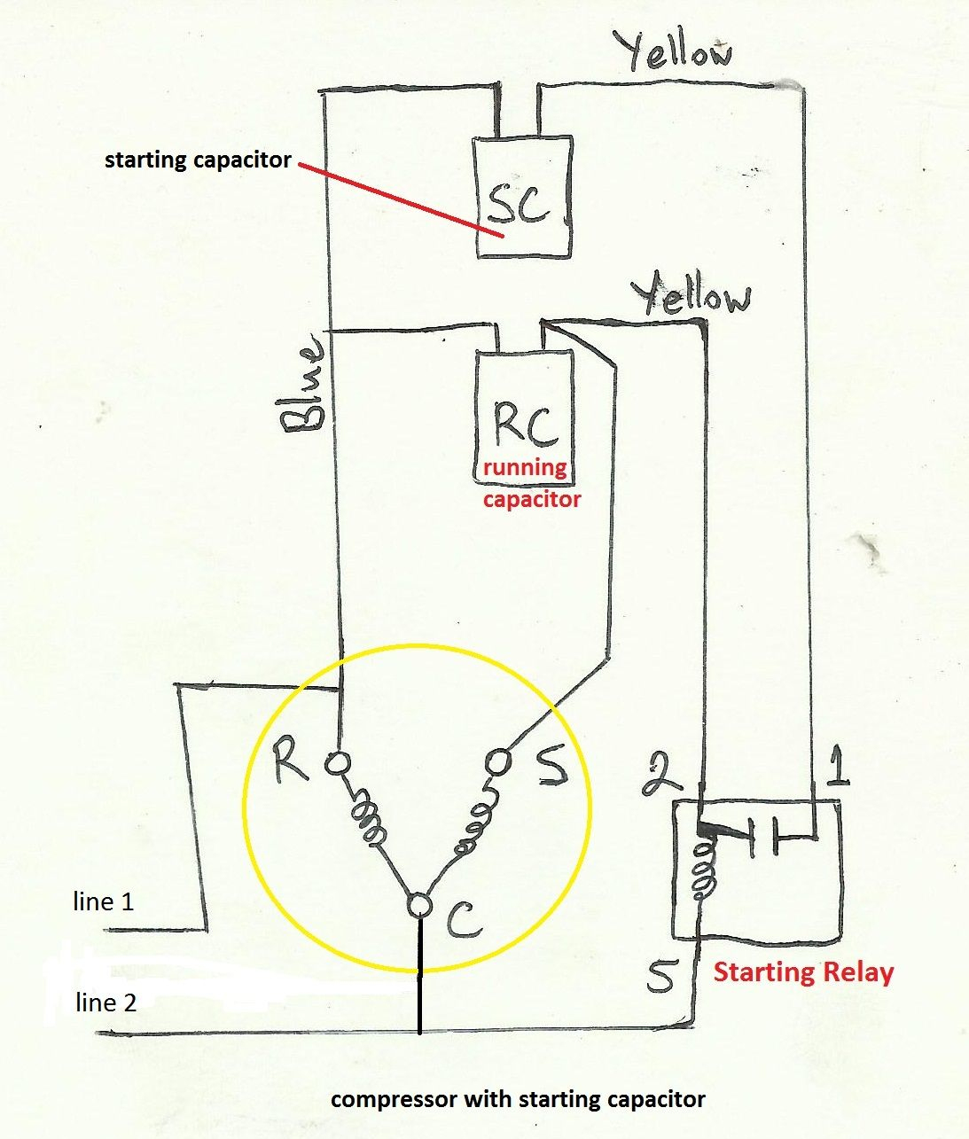 Air Compressor Capacitor Wiring Diagram Before You Call A Ac Repair - Wiring Diagram For Air Compressor Motor