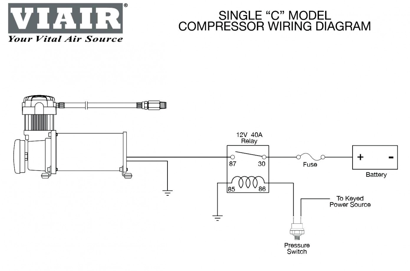 Air Compressor Wiring Diagram Schematic - Wiring Diagrams Hubs - Wiring Diagram For Air Compressor Motor