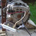 Alternator Demo Wiring, Connection To Battery, Capacitors, Inverter   Alternator To Battery Wiring Diagram