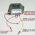 Alternator External Voltage Regulator Wiring Diagram Pdf | Wiring   Ford Alternator Wiring Diagram External Regulator