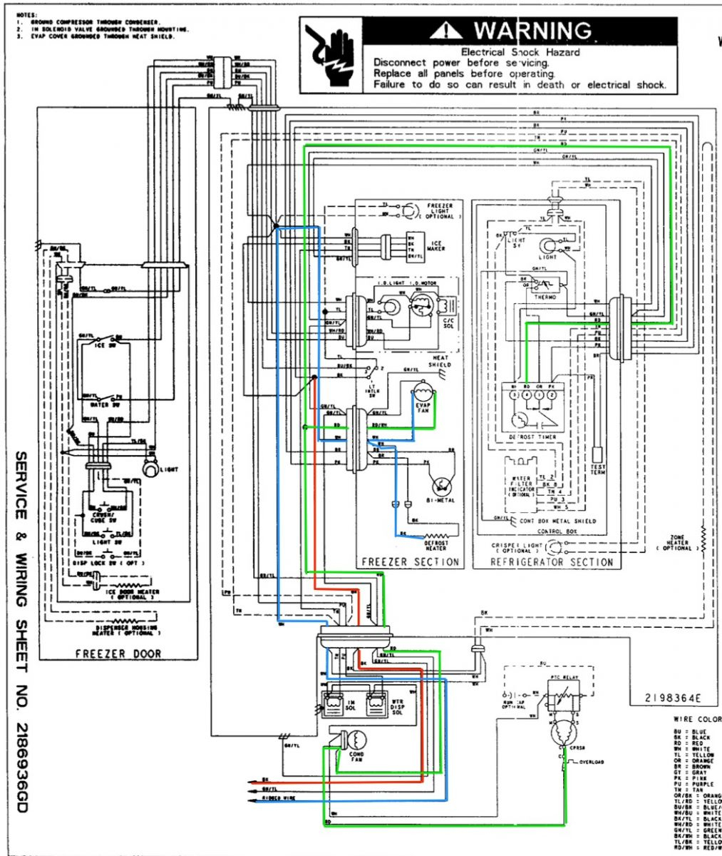 Amana Ice Maker Wiring Diagram | Schematic Diagram - Ge Refrigerator Wiring Diagram