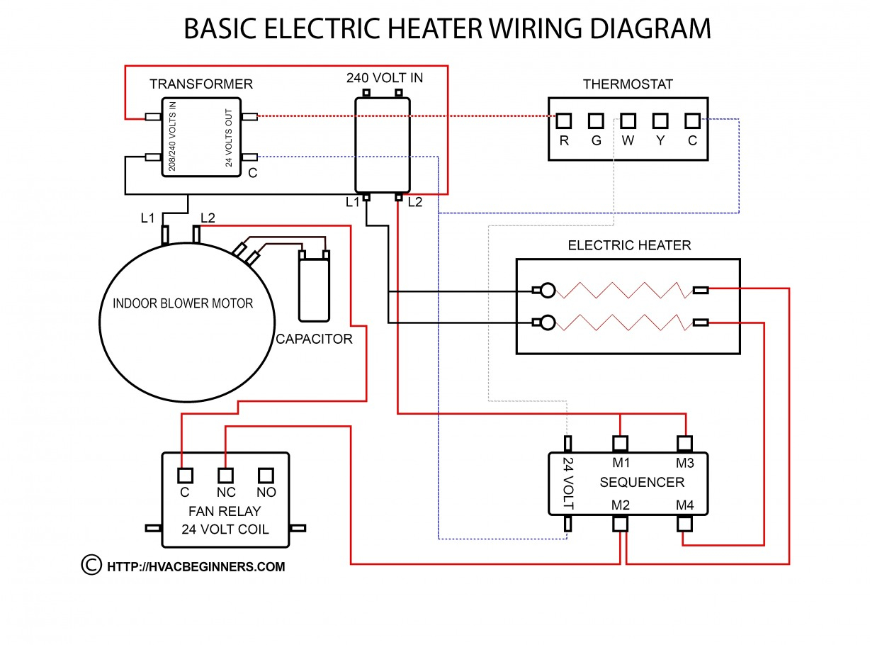 Amazing Of Baseboard Heater Wiring Diagram Multiple Heaters Just One - 240 Volt Baseboard Heater Wiring Diagram