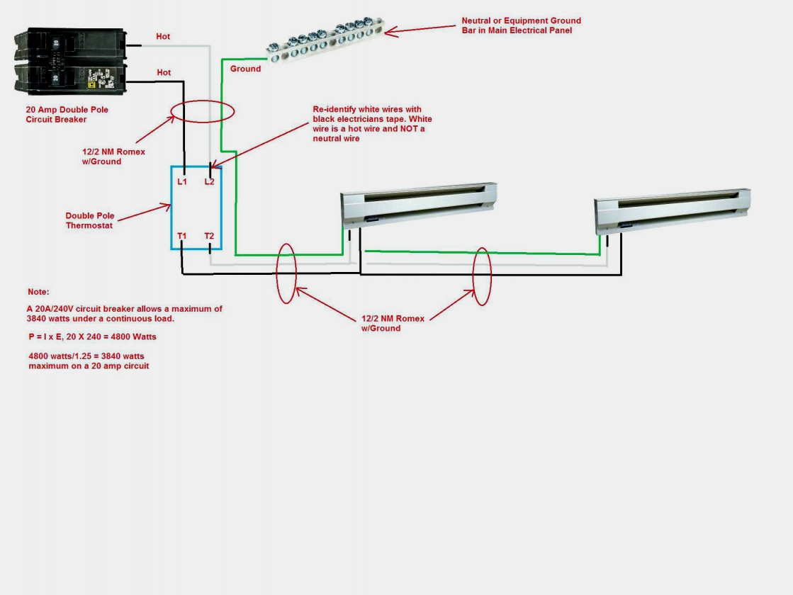 Amazing Of Single Pole Thermostat Wiring Diagram 240V Heater Library - Single Pole Thermostat Wiring Diagram