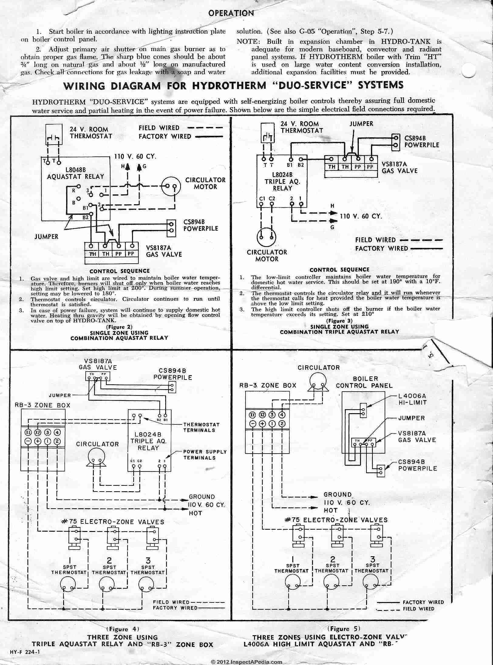 An Aquastat Wiring - Wiring Diagrams Hubs - Honeywell Aquastat Wiring Diagram