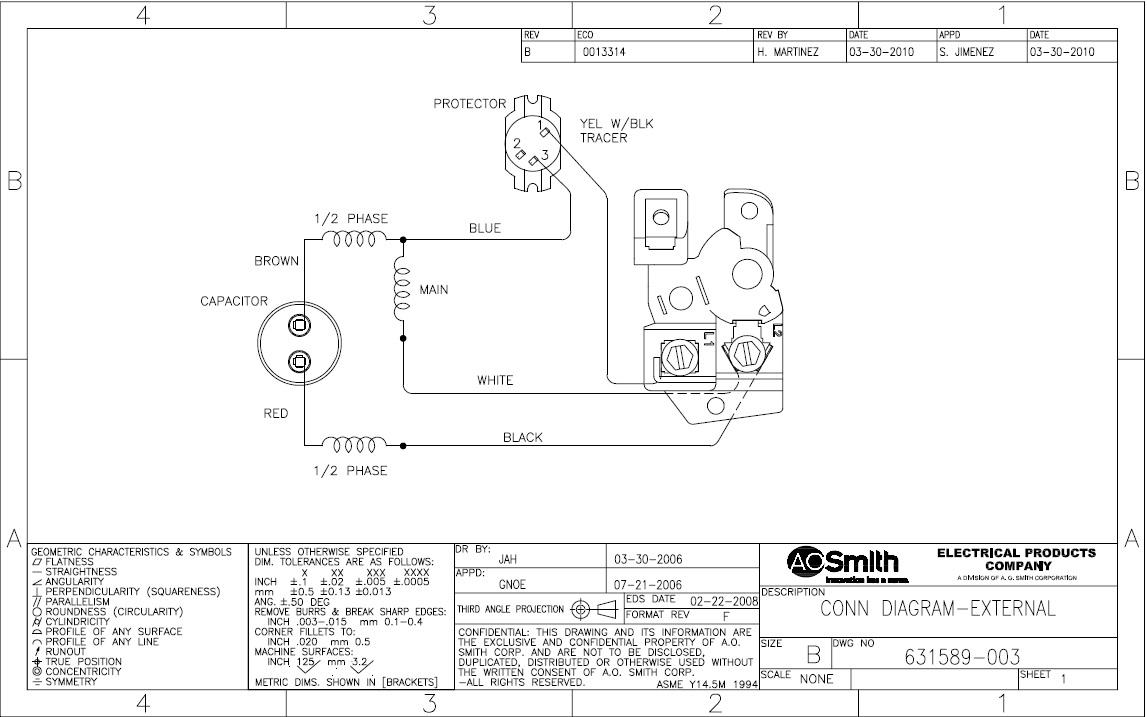 Ao Smith Motor Diagrams | Wiring Diagram - A.o.smith Motors Wiring Diagram
