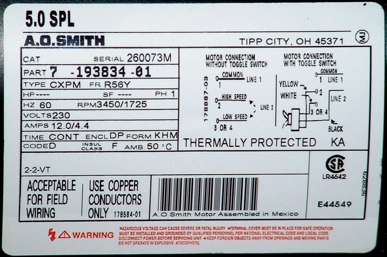 Ao Smith Motors Wiring Diagram | Wiring Diagram - A.o.smith Motors Wiring Diagram