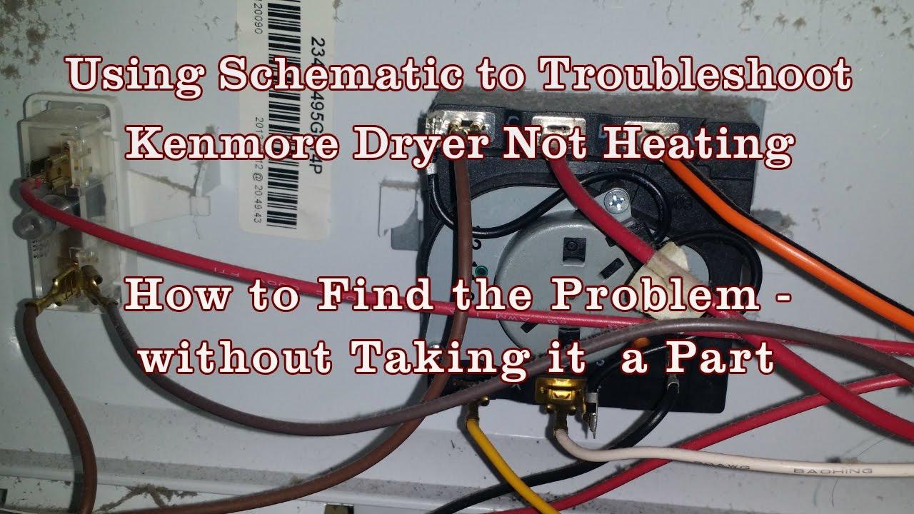 Appliance Repair - How To Read Schematics Diagram Kenmore/whirlpool - Kenmore Dryer Wiring Diagram