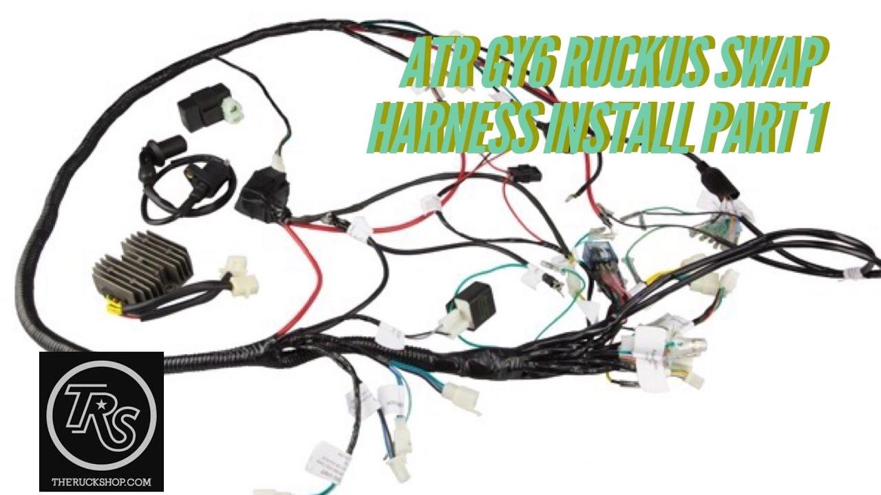 Atr Gy6 Harness Part 1 - Youtube - Gy6 150Cc Wiring Diagram