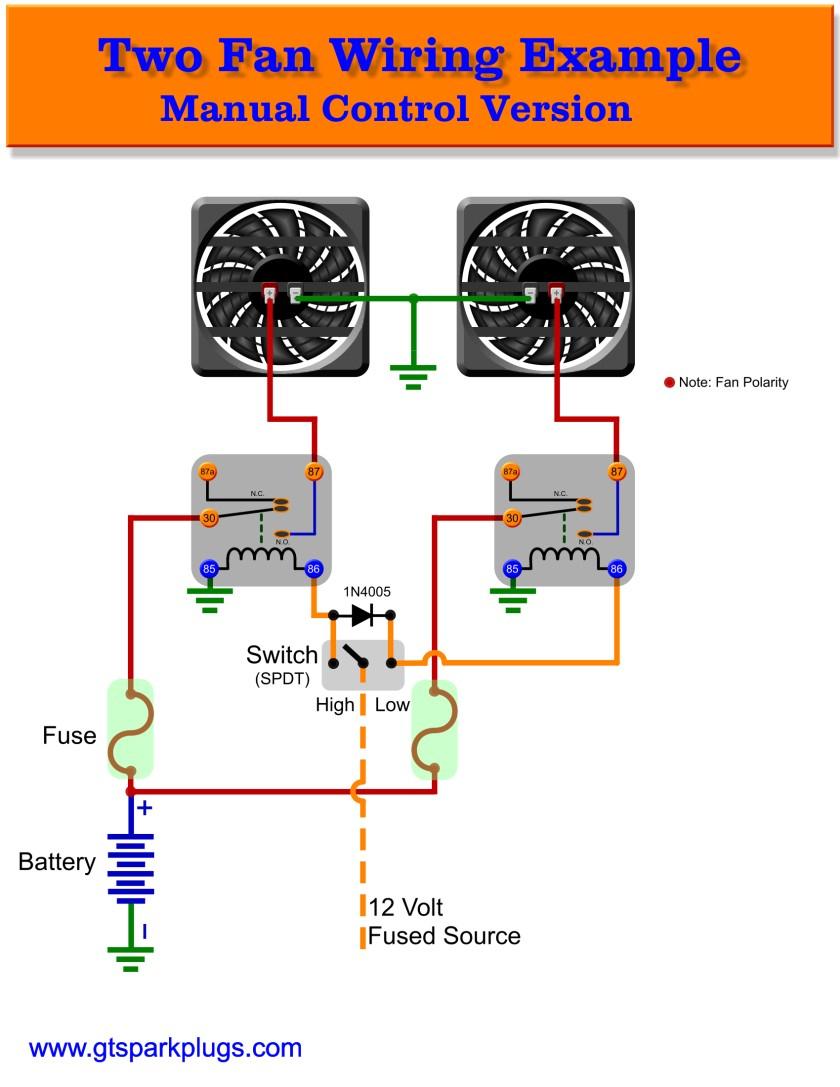 Automotive Electric Fans | Gtsparkplugs - Fan Relay Wiring Diagram