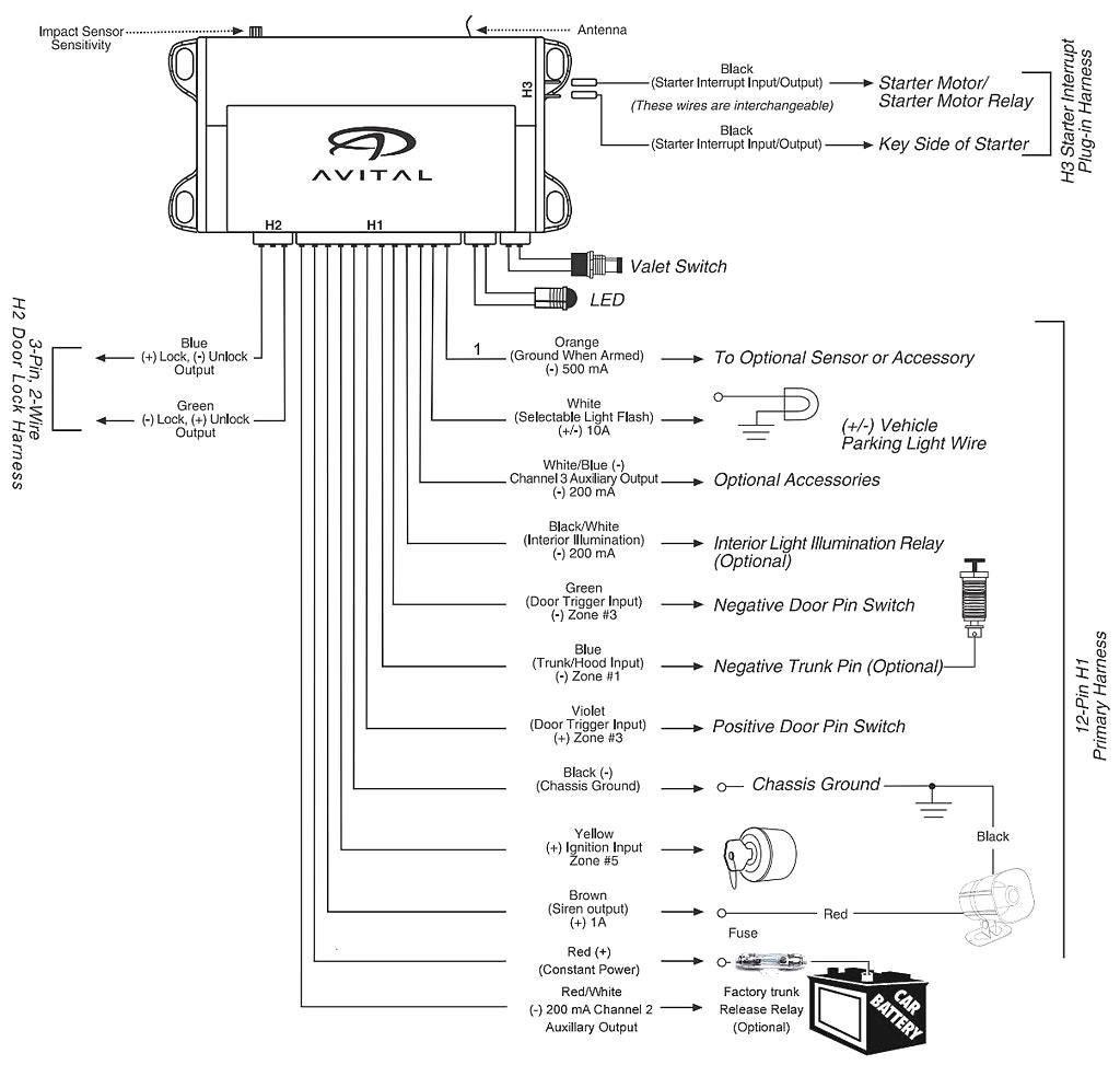 Avital 4111 Wiring Diagram