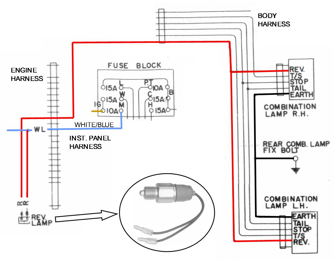 Backup Light Wiring Diagram - Design Of Electrical Circuit & Wiring - Reverse Light Wiring Diagram
