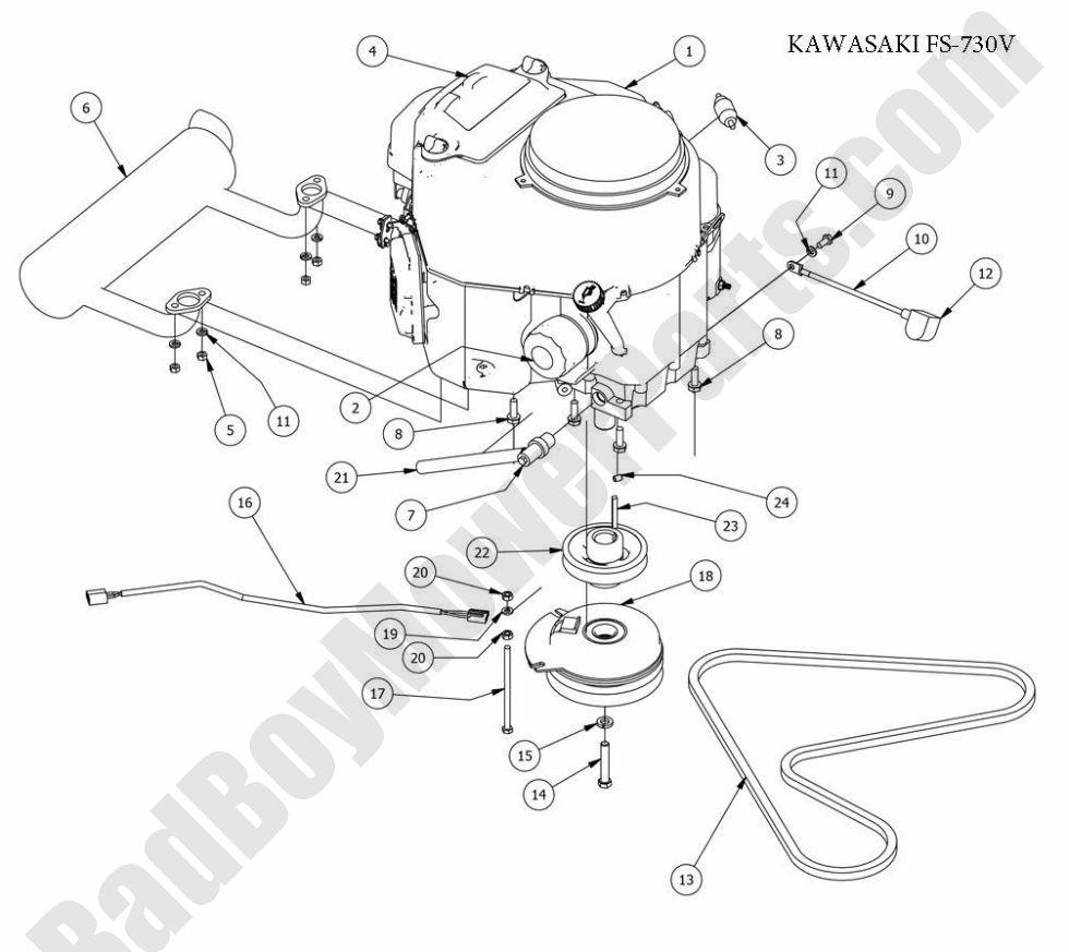 Bad Boy Parts Lookup 2013 Czt Engine (Kawasaki Fs730V) - Bad Boy Wiring Diagram
