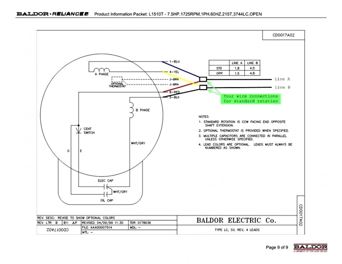 Baldor Wiring Diagrams - Data Wiring Diagram Schematic - Electric Motor Capacitor Wiring Diagram