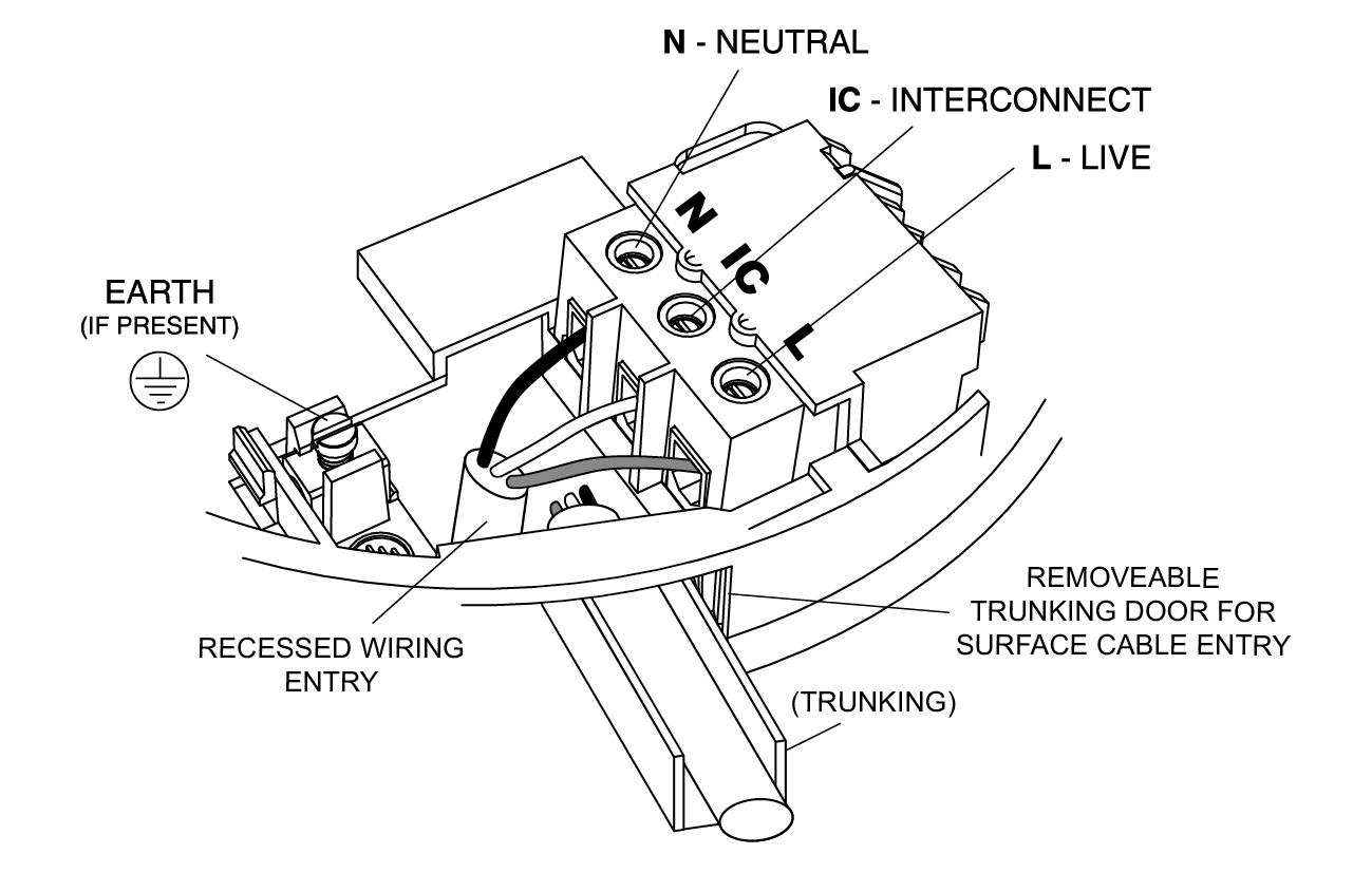 Basic Alarm Wiring - Aico - Smoke Detector Wiring Diagram