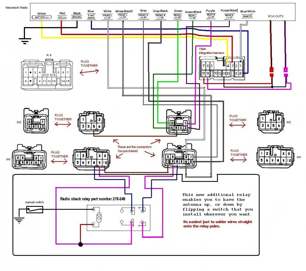 Basic Car Radio Wiring | Wiring Library - Pioneer Car Stereo Wiring Diagram Free