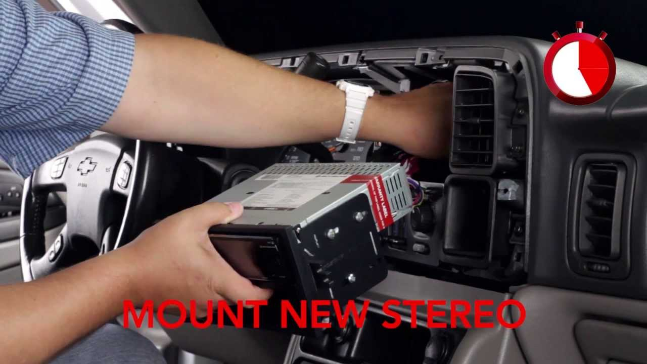 Basic Installation Of An Aftermarket Stereo Into A Gm Vehicle - Youtube - Scosche Wiring Harness Diagram