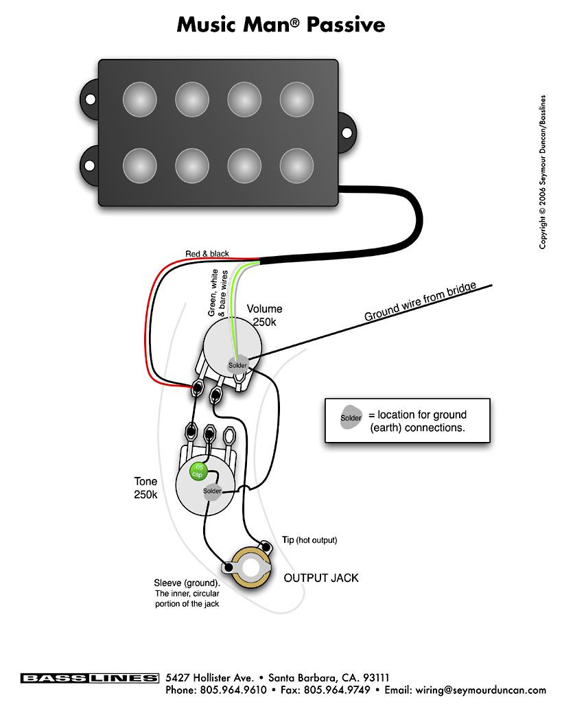 Bass Wiring Diagram Musicman Music Pinterest And With Guitar - Bass Guitar Wiring Diagram