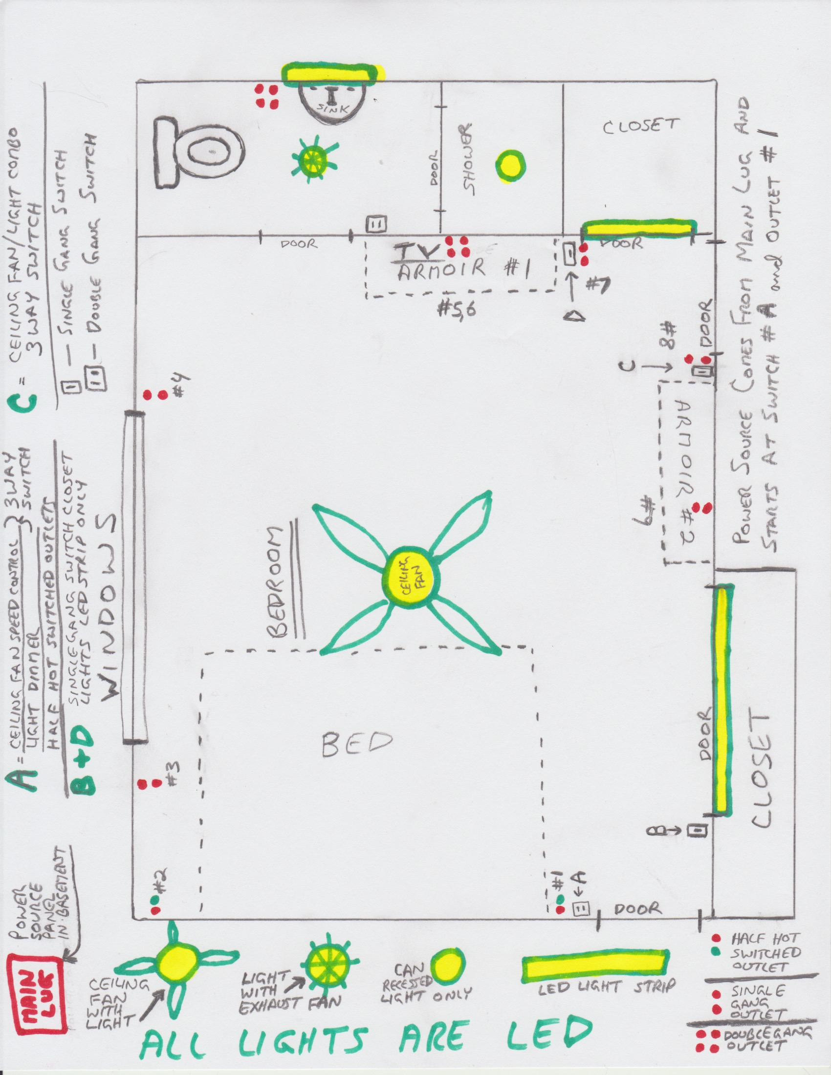 Bathroom Wiring Diagram - Wiring Diagrams Hubs - Bathroom Wiring Diagram