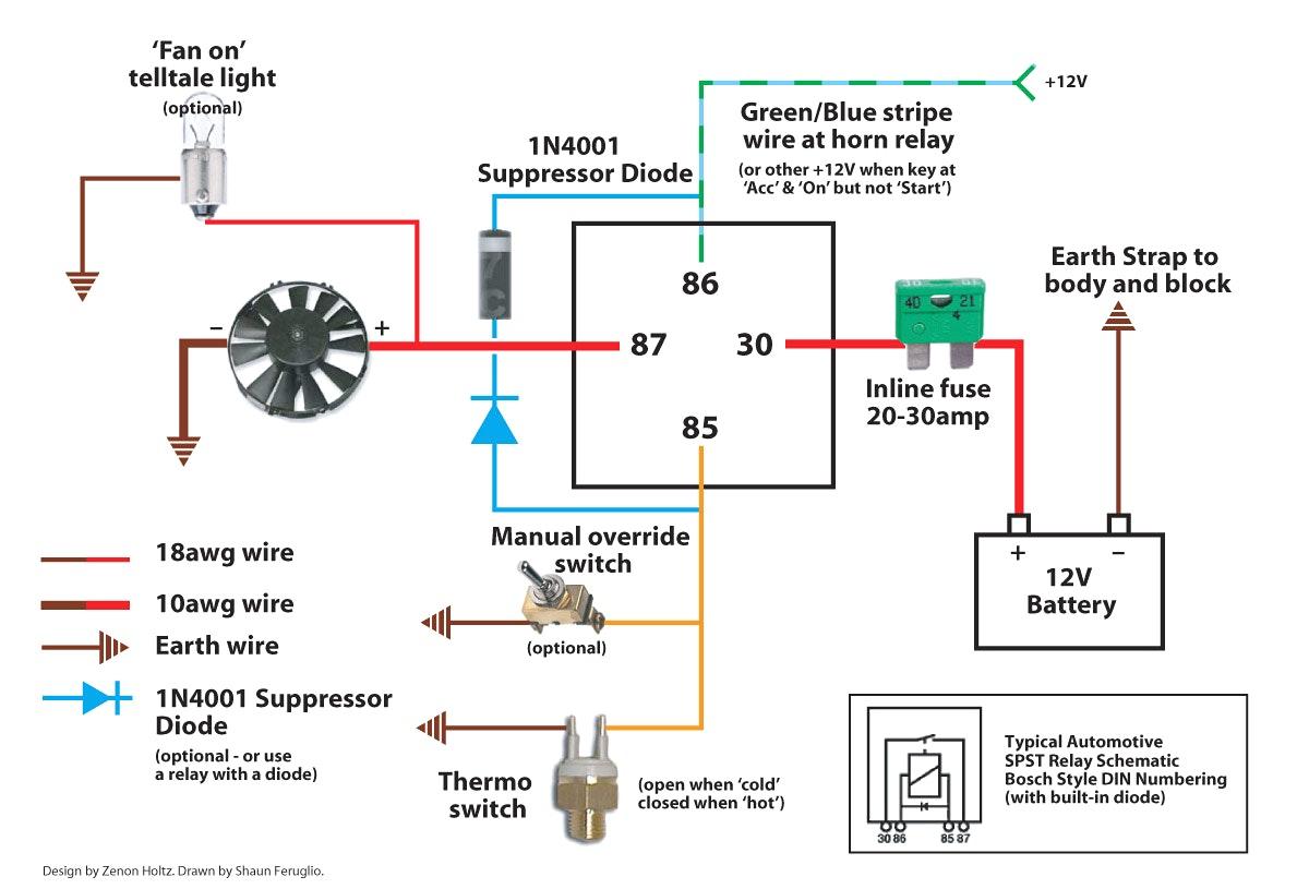 Bosch 12V Relay Wiring Diagram – Volovets - 12V Relay Wiring Diagram 5 Pin
