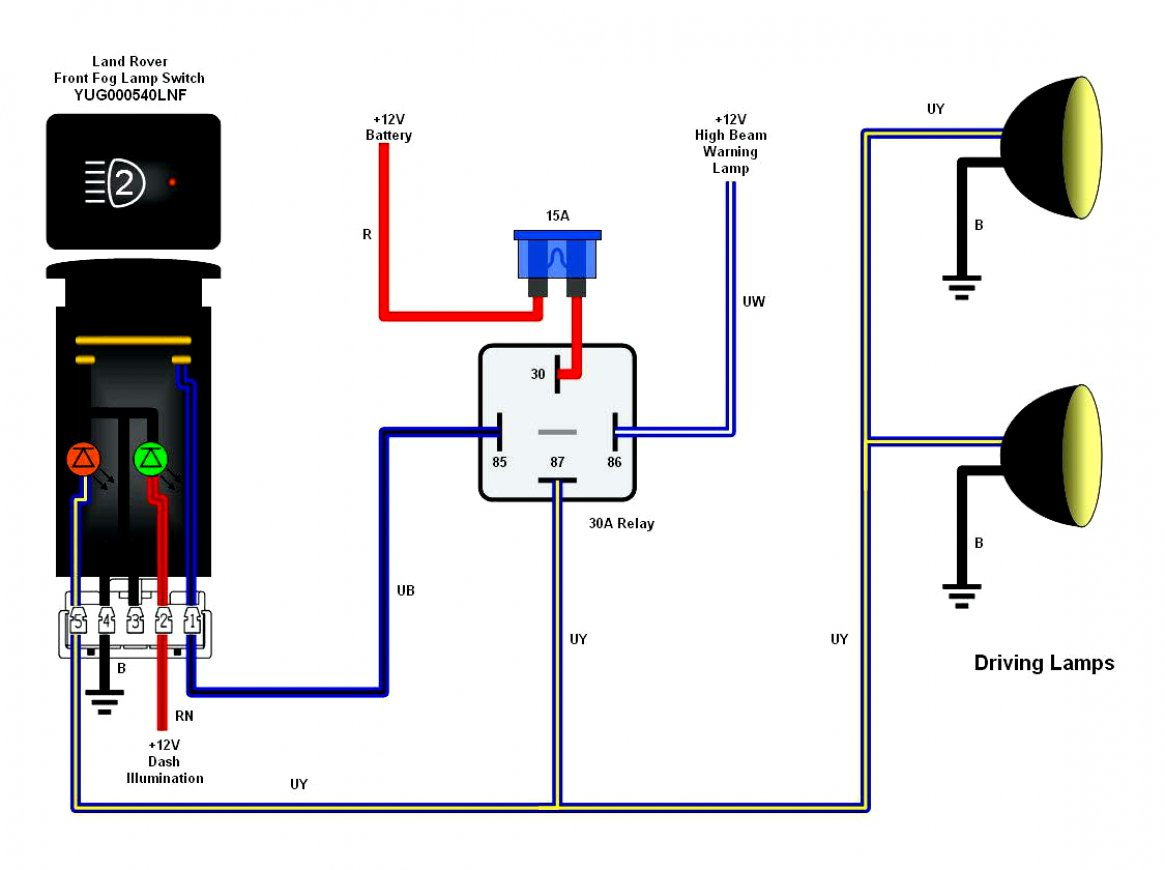 5 Pin Relay Spotlight Wiring Diagram